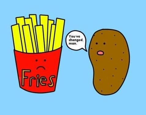 processed foods cartoon funny