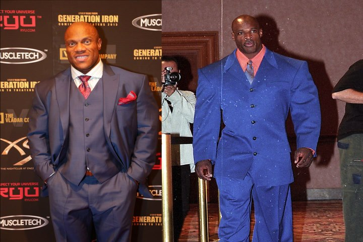 phil heath ronnie coleman suits