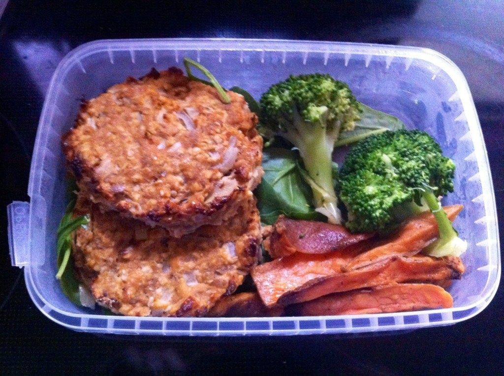 MuscleFood Tuna Burgers & Sweet Potato Fries