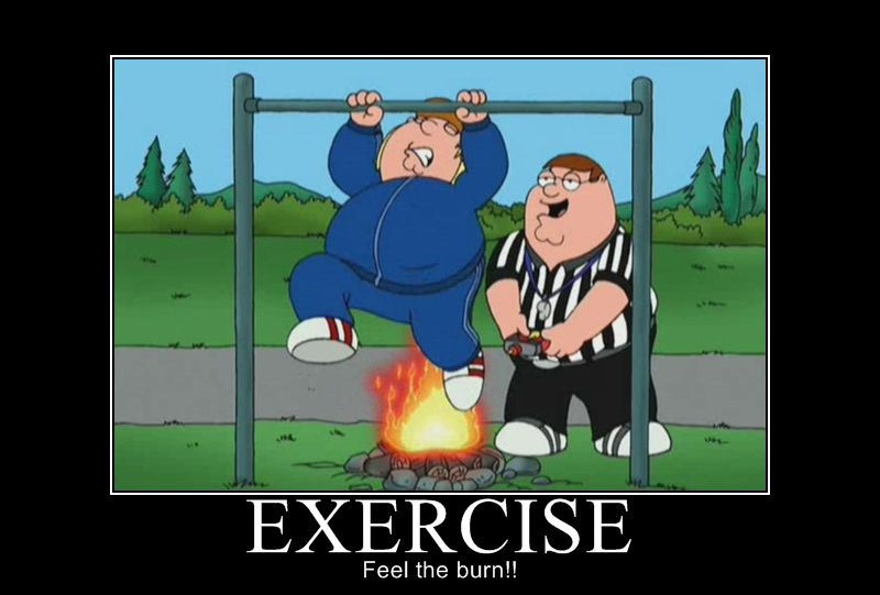 feel the burn family guy meme