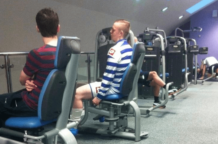 full football kit in gym