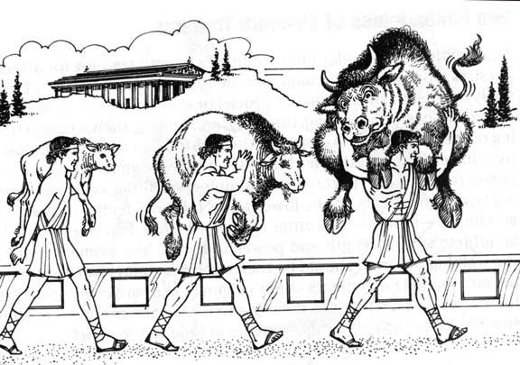 milo of croton and the calf