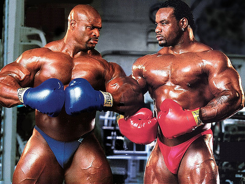 bodybuilders boxing