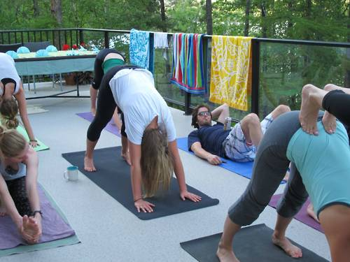 guy doing yoga funny
