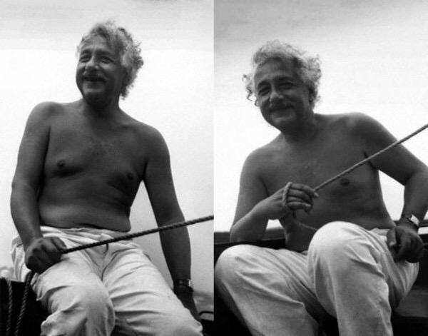 albert einstein topless