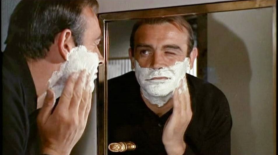 james bond sean connery shave