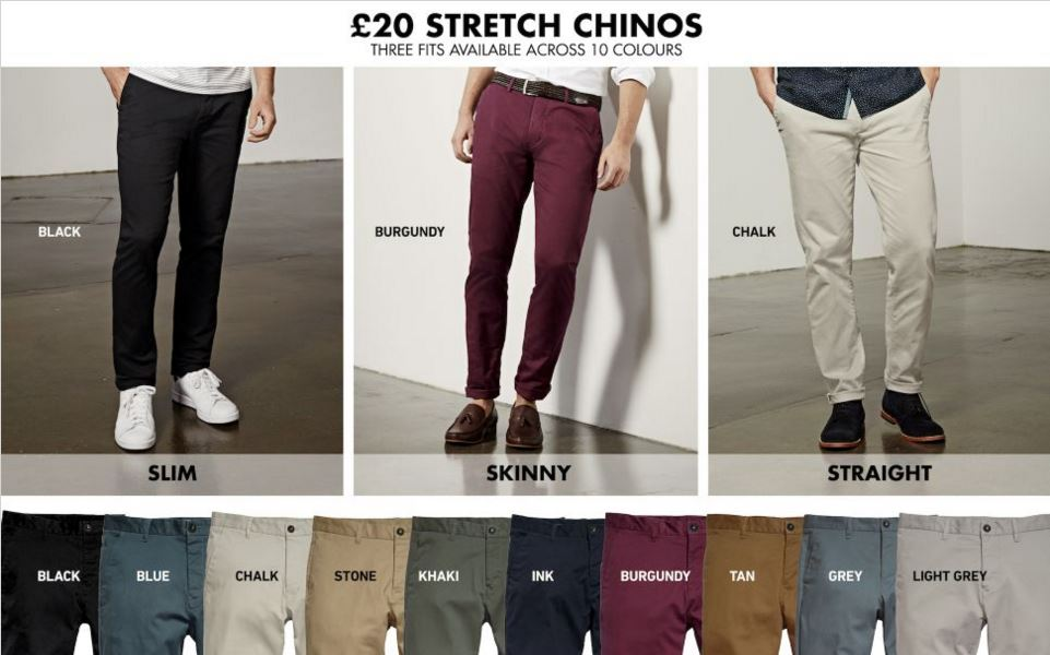 next stretch fit chinos