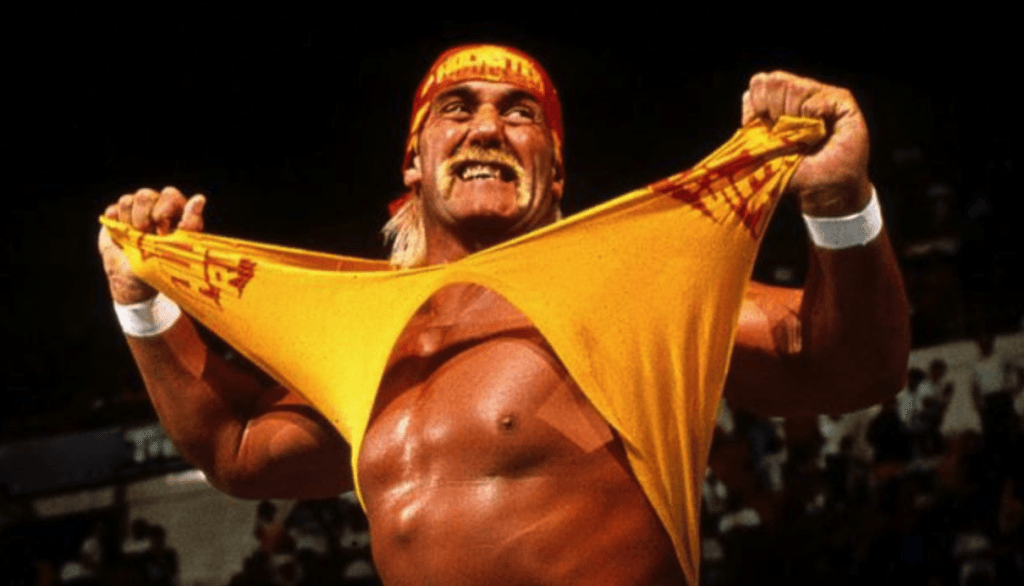 hulk hogan shirt ripped off