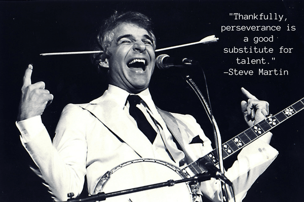 thankfully perseverance is a good substitute for talent - steve martin