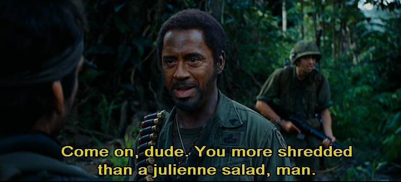 more shredded than a Julienne salad