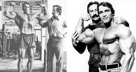 Arnold Schwarzenegger and Joe Weider