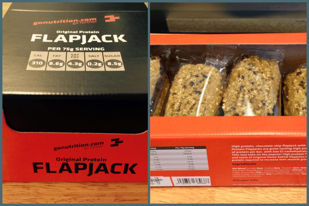 go nutrition original protein flapjack