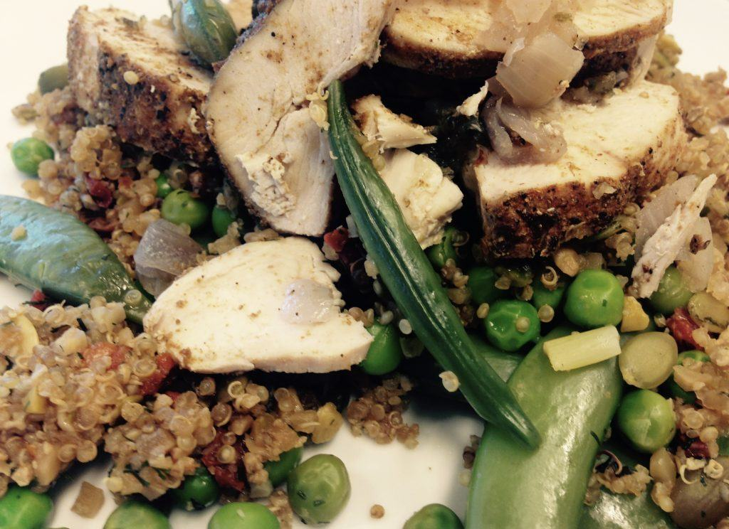 Musclefood Persian lime chicken with quinoa and minted peas