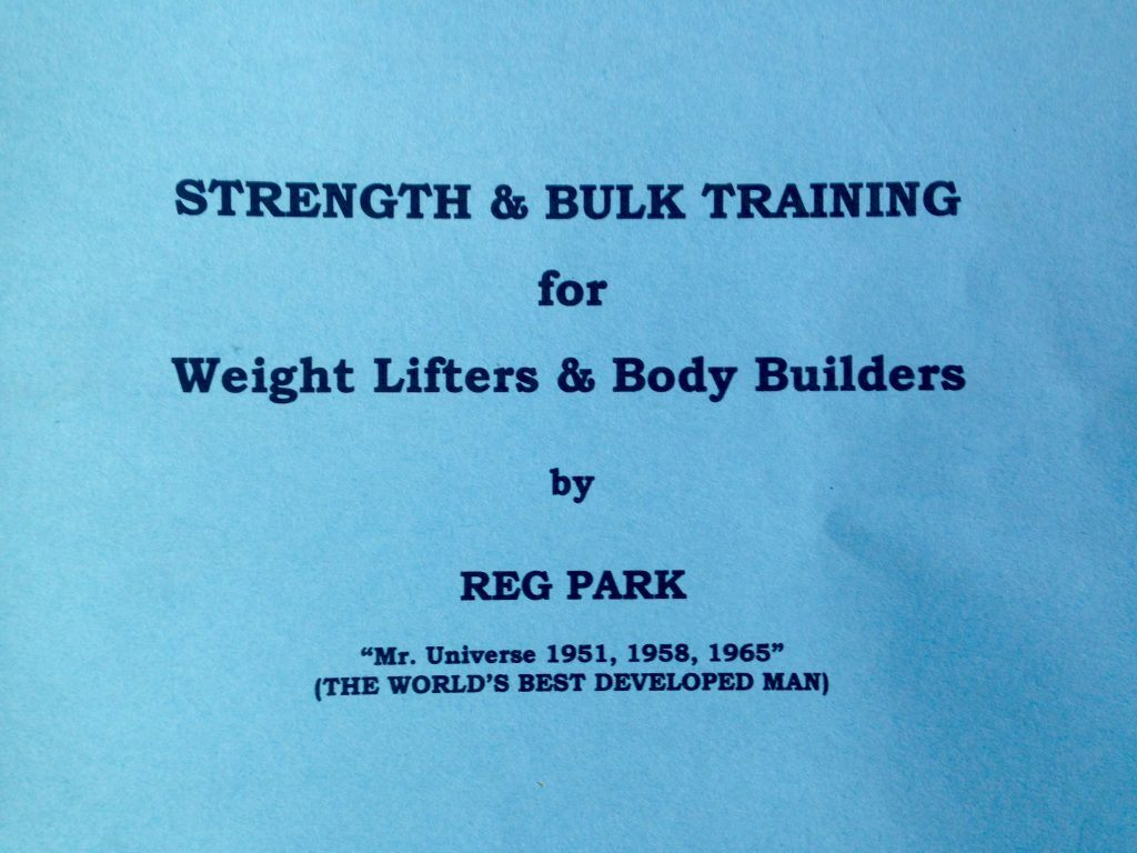 strength and bulk training for weightlifters and bodybuilders by reg park
