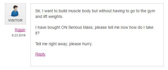 rajan comment gymtalk